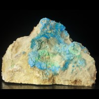 "4"" Neon Turquoise Blue CYANOTRICHITE Acicular Fuzzy Crystals China for sale"