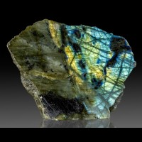 """5.3"""" Flashing Yellow Red Turquoise LABRADORITE Polished Front Madagscar for sale"""