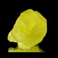 "1.3"" VerySharp Butter Yellow SULFUR Terminated Crystal-Agrigento Sicily-for sale"