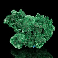 "4"" Dark Green MALACHITE PSEUDO AZURITE Sharp Crystals Milpillas Mexico for sale"