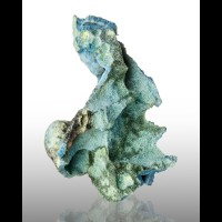 "1.9"" Bubbly Pale Blue Velvet SHATTUCKITE Crystal Lining Vug Namibia for sale"