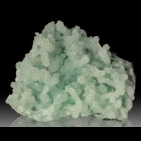 "4.9"" Pale Green PREHNITE Fingers w/Apophyllite Crystal Coating India for sale"