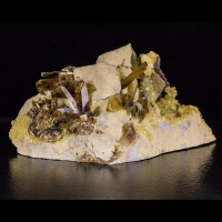 """6.5"""" Golden BARITE Baryte Pointy Crystals on Matrix to 1"""" Elk Creek SD for sale"""
