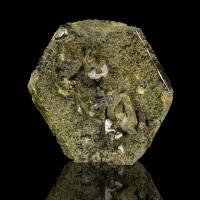 "3.5"" Lustrous Dark OliveGreen EPIDOTE Pseudo Hexagonal Crystal Pakistan for sale"