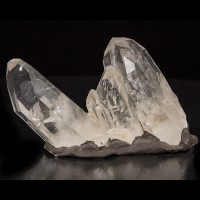 """5"""" Sharp WHITE PHANTOMS in Clear Terminated QUARTZ Crystals to 3.5"""" AR for sale"""