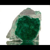 "5"" Matrix w/Dark Green Needle BROCHANTITE 4mm Crystals Milpillas Mexico for sale"