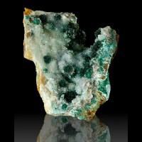 "3.6"" Rare Dark Green CLINOATACAMITE Crystals w/Druzy Quartz Lily M Peru for sale"