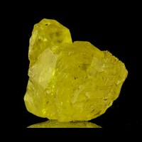 "2.1"" Glassy Sunglow Yellow SULFUR Crystals Cozzo Disi Mine Sicily 1976 for sale"