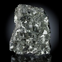 "3.6"" VSharp CUBIC MAGNETITE Crystals w/Talc ZCA #4 Mine Balmat NY 1992 for sale"