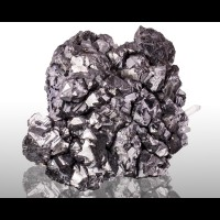 "4"" Modified Octahedral GALENA Shiny Silver Crystals Petrovista Bulgaria for sale"