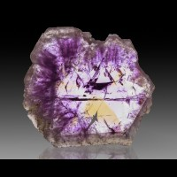 "4"" 208g Gem AMETRINE SectorZone Amethyst+Citrine Polished Slice Bolivia for sale"