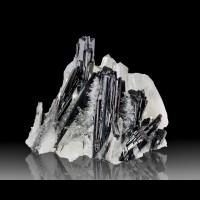 """3.4"""" Sparkly Sharp QUARTZ with Metallic Red HUEBNERITE Crystals Peru for sale"""