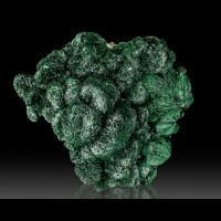 "2.6"" Dark Green FIBROUS MALACHITE Acicular Botryoidal Crystals Congo for sale"