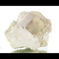"""1.5"""" Near Perfect Shiny CUBIC PYRITE CRYSTAL on Off-White Matrix Spain for sale"""