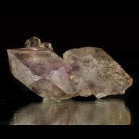 "3.2"" Sharp PHANTOM AMETHYST Purple + Clear Crystals Brandberg Namibia for sale"