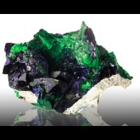 "3.6"" Outstanding Shiny Blue AZURITE & Green MALACHITE Milpillas Mexico for sale"