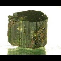 "1"" 110ct Dark Gemmy Green Sharply Terminated DRAVITE Crystal Tanzania for sale"