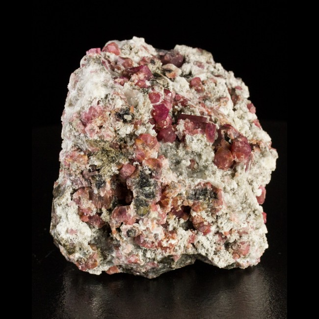 """3.5"""" RASPBERRY GARNET Ruby Red Crystals HiContrast onWhiteMatrix Mexico for sale"""
