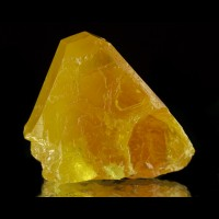 "1.4"" Gemmy Yellow SULFUR ExtraSharp Near Perfect Rhombic Crystal Sicily for sale"