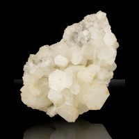 """5.5"""" Rare White HEXAGONAL CALCITE Sharp Pinacoid Crystals Germany 1800s for sale"""