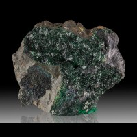 "5.8"" Lustrous Dark Green ATACAMITE Sparkling Crystals La Farola M Chile for sale"