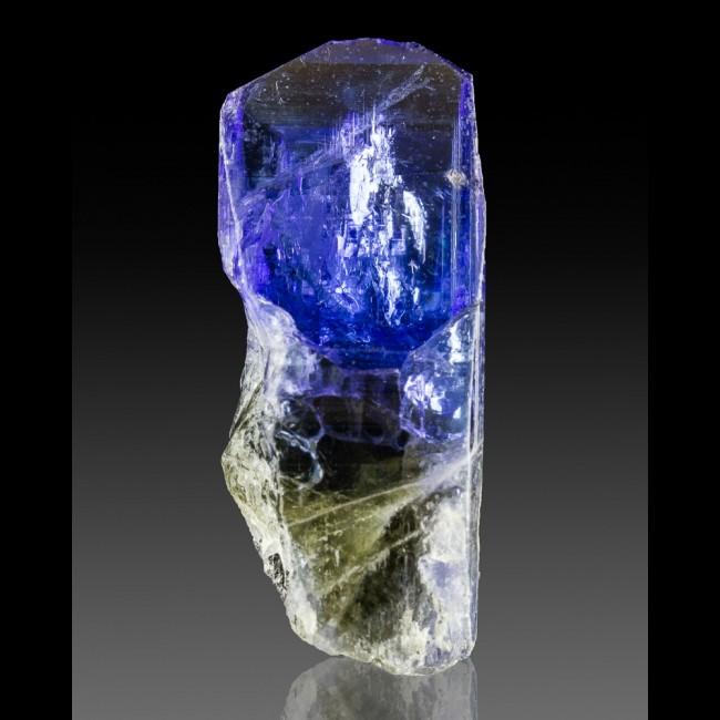 "1.4"" 60.3ct 2Color BluePurple TANZANITE TerminatdGemmy Crystal Tanzania for sale"