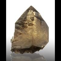 """4.9"""" SmokyHoney Gold CITRINE QUARTZ Crystal SeeThru Gem Interior Brazil for sale"""