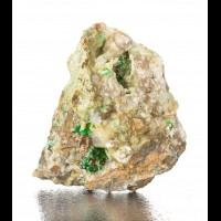 """2.3"""" Brilliant Green ANNABERGITE Needle Crystals Sprays Lavrion Greece for sale"""