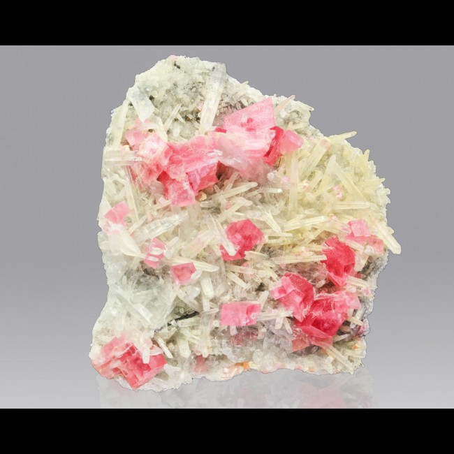 "2.3"" RosyRed RHODOCHROSITE 15 Crystals +NeedleQuartz Sweet Home Mine CO for sale"