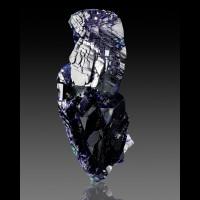 "2.5"" Outstanding Shiny Blue AZURITE & Green MALACHITE Milpillas Mexico for sale"