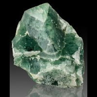 "10.5"" Jumbo Vivid Green Cubic FLUORITE Crystals to 6"" w/Calcite Morocco for sale"