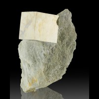 """1.4"""" NearPerfect GOLDEN PYRITE Sharp Cubic Crystal on 4.8"""" Matrix Spain for sale"""