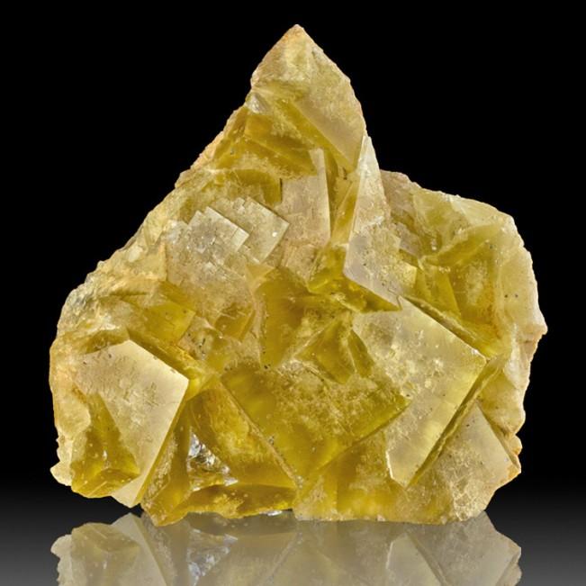 "6.2"" Butter Yellow FLUORITE Sharp Cubic Cryst..."