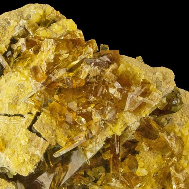 "4.1"" Gem Clear HoneyGold BARITE Crystals in Vugs on Matrix Elk Creek SD for sale"