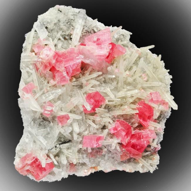 "2.3"" RosyRed RHODOCHROSITE 15 Crystals +Needl..."