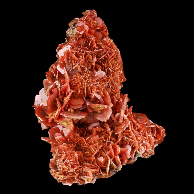 """2.4"""" Red-Orange WULFENITE on Matrix Bladed Crystals to .5"""" China for sale"""