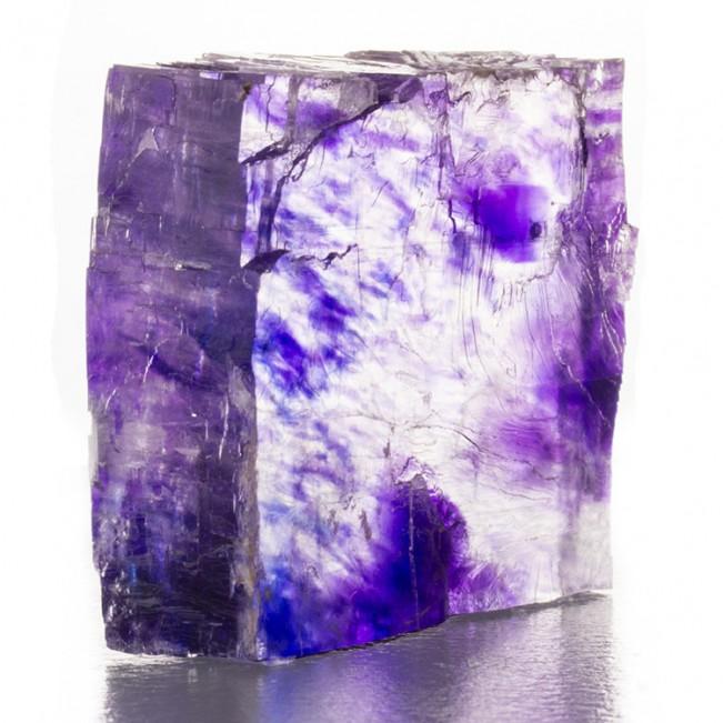 "3.6"" HALITE (Salt) w/Blue/Purple ColorClouds Inside Crystal Carlsbad NM for sale"