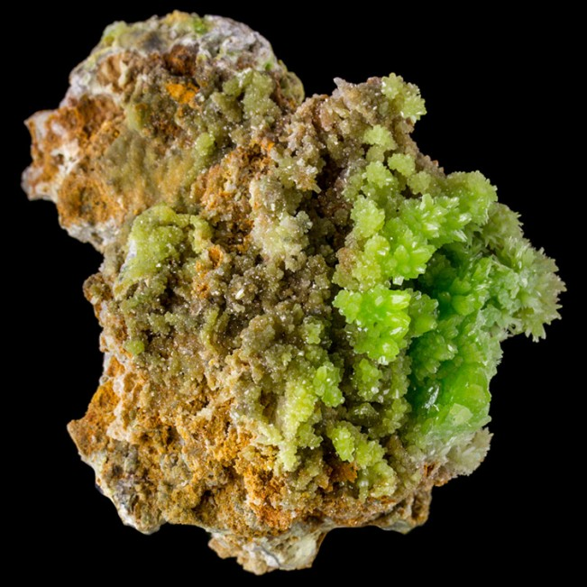 """2.2"""" Sparkly Lime Green PYROMORPHITE Crystals to 3mm Daoping Mine China for sale"""