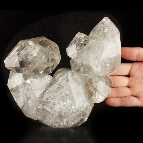 "6.2"" Gem HERKIMER DIAMOND 6 Crystals HorseSho..."