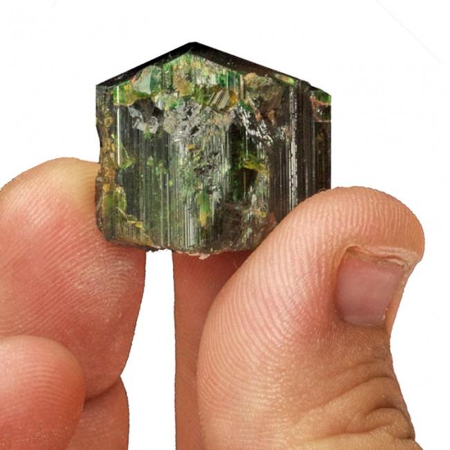 "1"" 110ct Dark Gemmy Green Sharply Terminated DRAVITE Crystal Tanzania for sale"