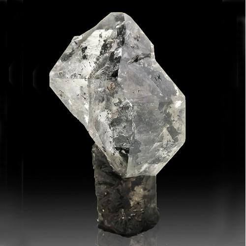 ".9"" Clear HERKIMER DIAMOND Sceptered on Black..."