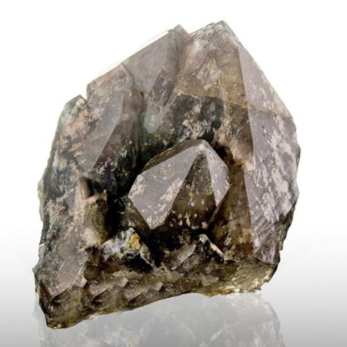 "1.9"" SMOKY QUARTZ Crystals +Hematite Inclusio..."