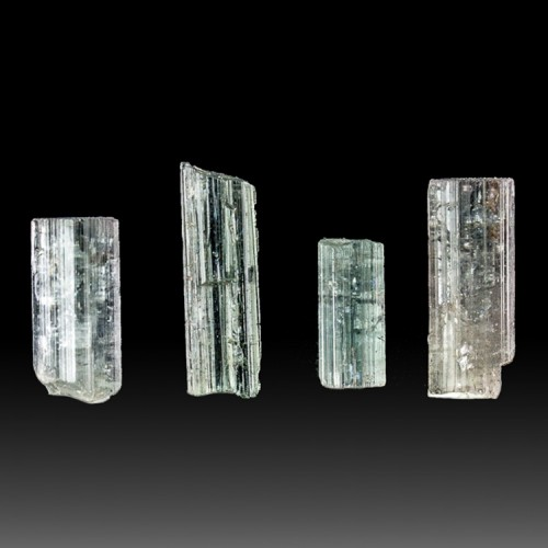 Lot of 4 Gemmy BLUE TOURMALINE Indicolite Crystals...