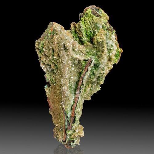 """6"""" CONICHALCITE Rich ForestGreen Crystals Cov..."""