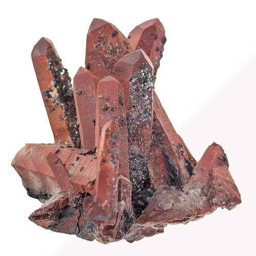 """2.6"""" Sharp Rosewood Red QUARTZ CRYSTALS with ..."""