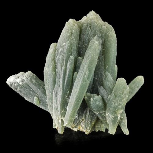 "1.8"" GREEN PRASE QUARTZ Crystals w/Actinolite..."