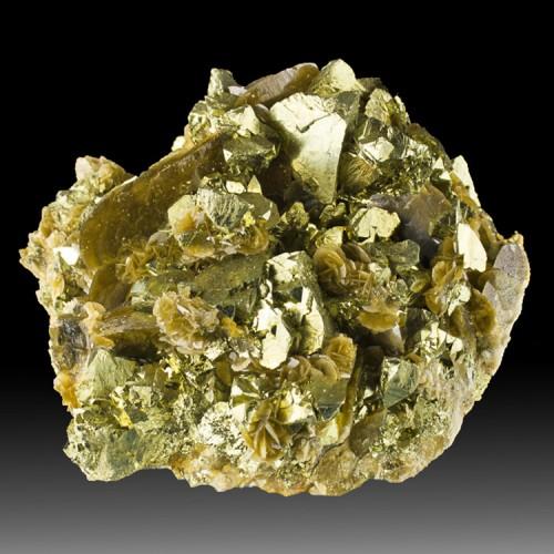 """4.1"""" Flashy Gold CHALCOPYRITE Crystals w/Choc..."""
