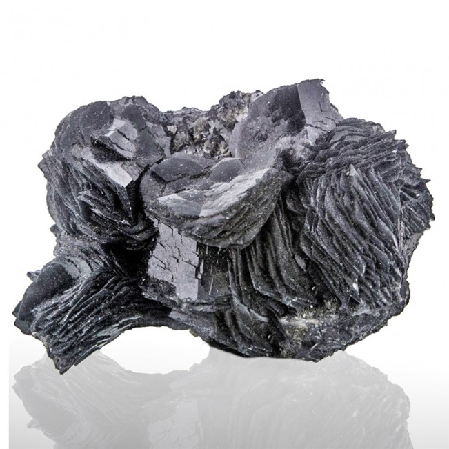"2.9"" IRON ROSE Crystal Flashy Metallic Silver..."