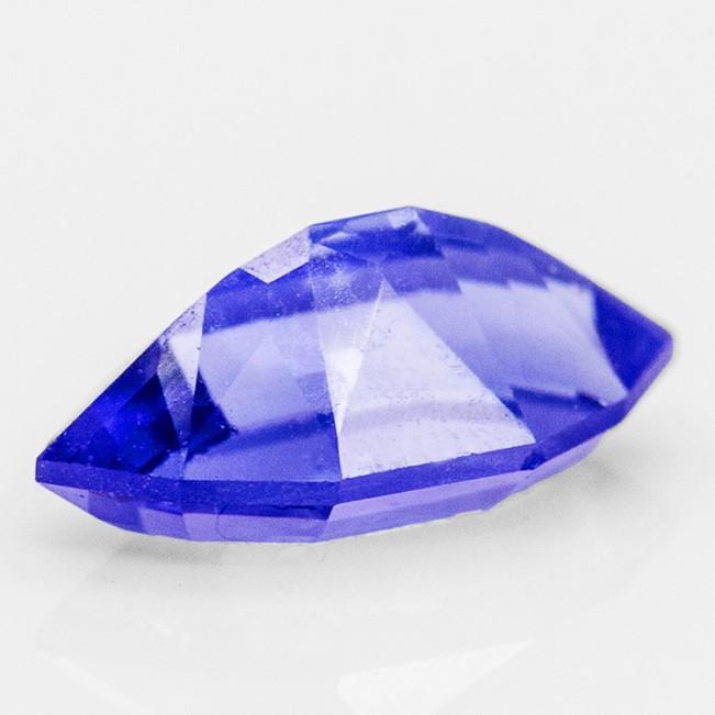 4.5mm .31ct Rich Blue TANZANITE Gemstone Untreated Step-Diamond Cut VS1 for sale