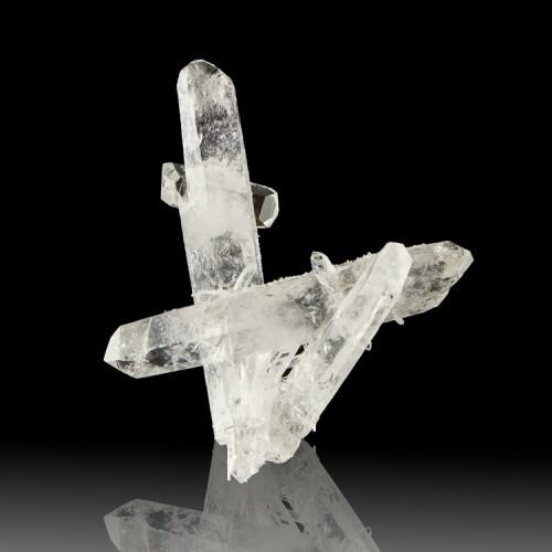 "4.6"" Intricate Multi-Crystal Cluster Clear TI..."